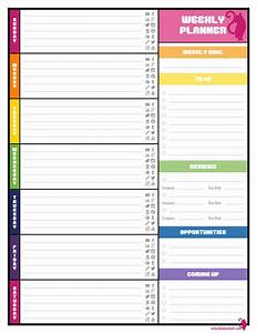 blank weekly calendars with appointment times printable With week by week planner template