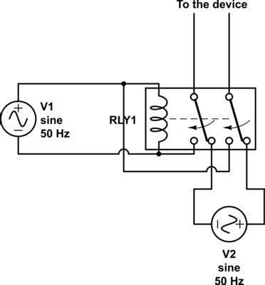 Mains Using Relay Switch Between Vac Inputs