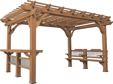 pergola en bois pergola en bois de c 232 dre oasis