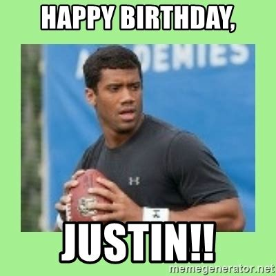 Justin Bieber Happy Birthday Meme - happy birthday justin russell wilson meme generator