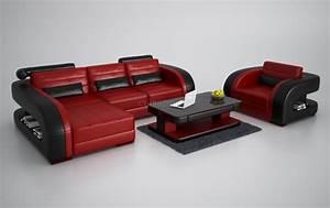 canape d39angle en cuir avec fauteuil assorti italien With tapis rouge avec canape cuir design destockage