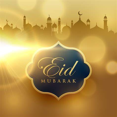 beautiful golden background  eid mubarak festival