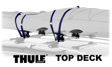 thule roof rack kayak thule 881 top deck kayak saddle carriers car roof top