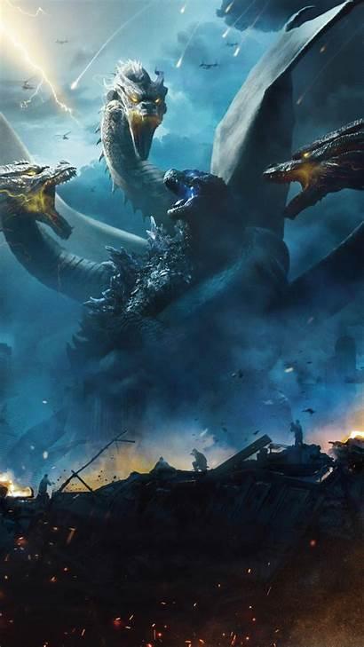 Godzilla Ghidorah Monsters King 4k Wallpapers 1080