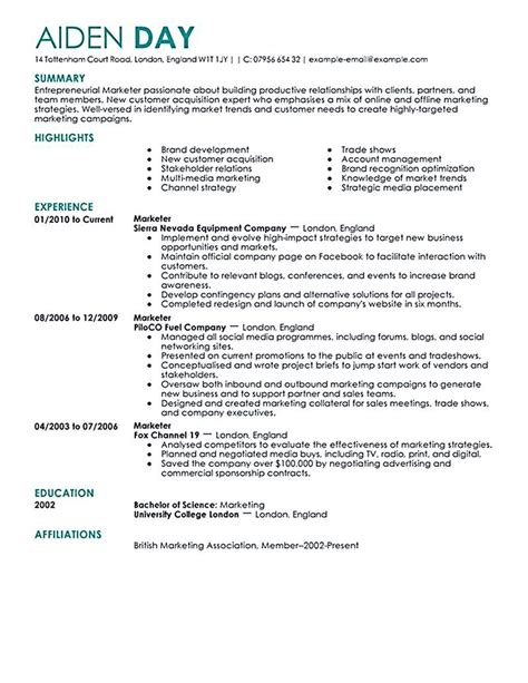 Where Can I Make A Resume For Free by Marketing Resume Will Be All About On How A Person Can