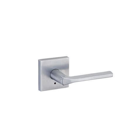 Kwikset Bed And Bath by Kwikset Lisbon Satin Chrome Square Bed Bath Lever 155lsl
