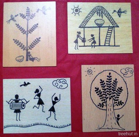 easy warli art  beginners