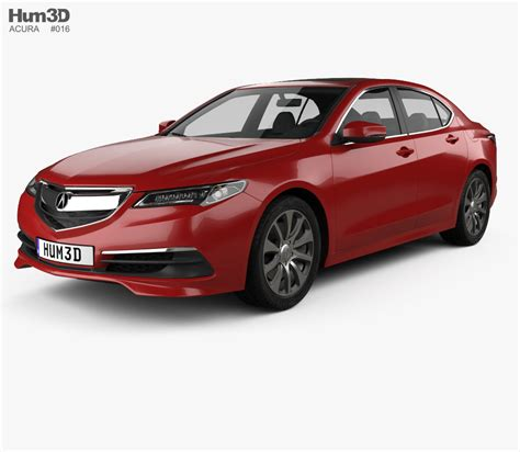 acura tlx 2014 3d model vehicles on hum3d