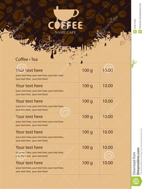 Coffee Menu Stock Vector Image Of Espresso, Letter, Blast