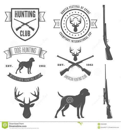 set of vintage badge emblem or logotype elements stock vector 59629088