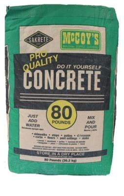 Apply now for bad credit card. Shop Concrete Mix 80 LB at McCoy's