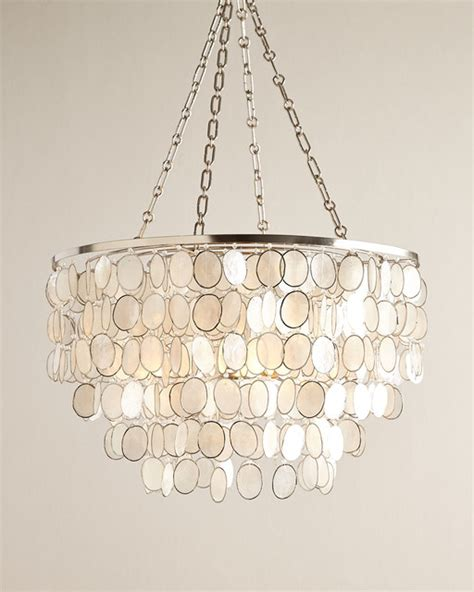 capiz shell silvery chandelier style