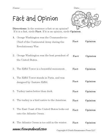 two free fact and opinion worksheets for your language arts classroom help your