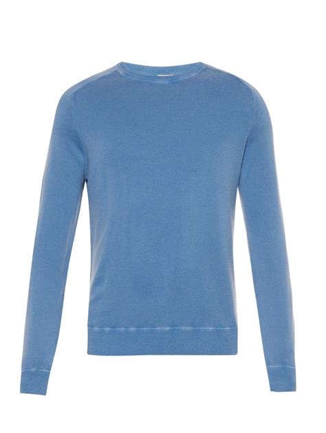 light blue cashmere sweater lyst massimo alba sport cashmere sweater in blue for men