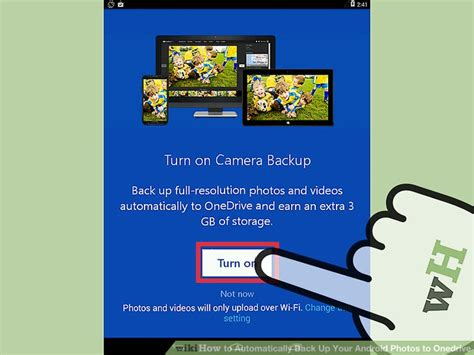 how to automatically back up your android to onedrive