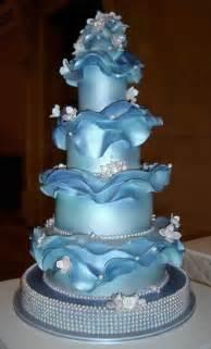 Amazing Blue Wedding Cake