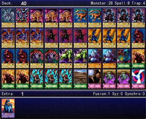 rex raptor character deck rex raptor s duelist kingdom deck for ygopro by