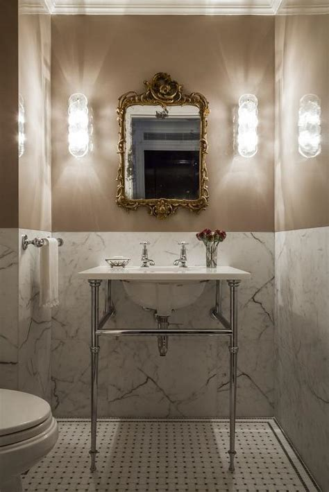 marble  wall transitional bathroom vella interiors
