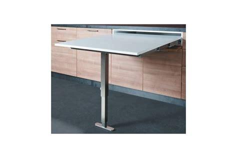 table escamotable cuisine table escamotable avec pied dans un tiroir accessoires de