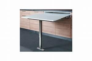 table escamotable avec pied dans un tiroir accessoires de With meuble cuisine avec table escamotable