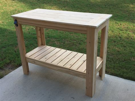 outdoor prep table plans ana white grilling table diy projects