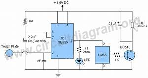 Touch Alarm With Um66 Ic