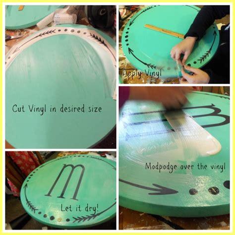 monogrammed wood sign craft