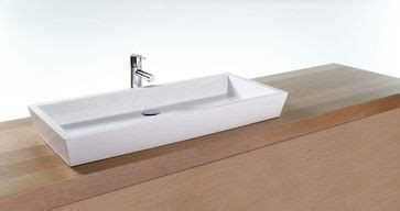 Modern Above Counter Bathroom Sinks by Narrow Powder Room Sinks Vc836 Vessel Sink Modern