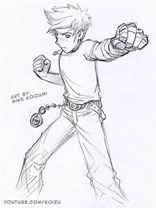 Manga Fighting Pose: Punching Fists by MikeKoizumi on ...