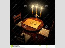 Table With Ouija Board And Candles Stock Image Image