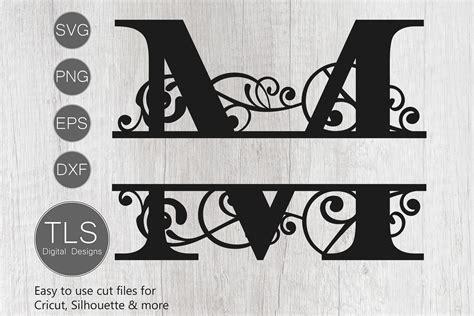 letter  split monogram svg split monogram svg letter
