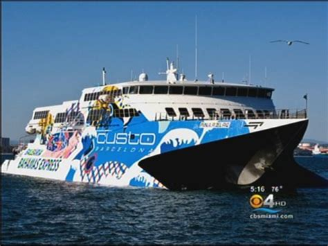 Fast Boat Miami To Bahamas by New Bahamas Ferry Coming To Port Everglades 171 Cbs Miami