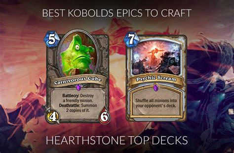 Hearthstone Epic Crafting Guide (standard)