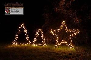 Stern Beleuchtet Weihnachten : gartenmotive stern und tannenbaum zur weihnachtsbeleuchtung figuren aus metallrahmen mit led ~ Markanthonyermac.com Haus und Dekorationen