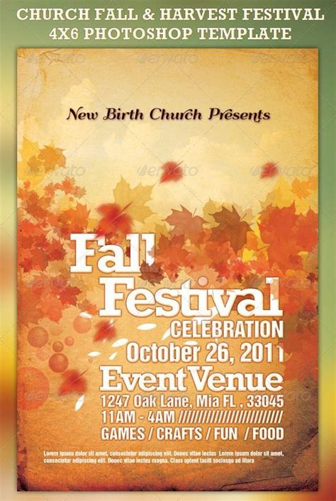 Church Fall and Harvest Festival Template 1000 in