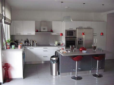 cuisine moderne blanche modern kitchen color schemes custom home design