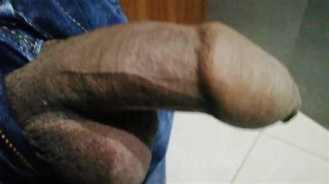 Black Uncut Cock Masturbating