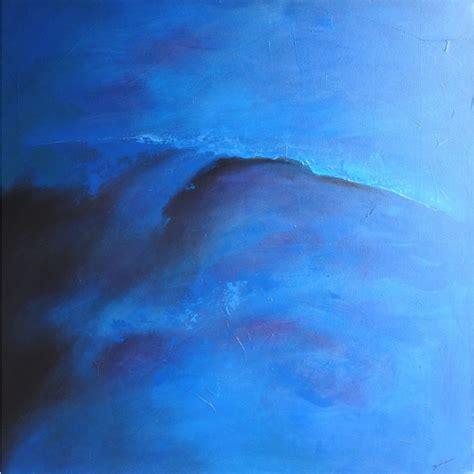 chambre de service tsunami tableau abstrait bleu 120x120 idée déco chambre