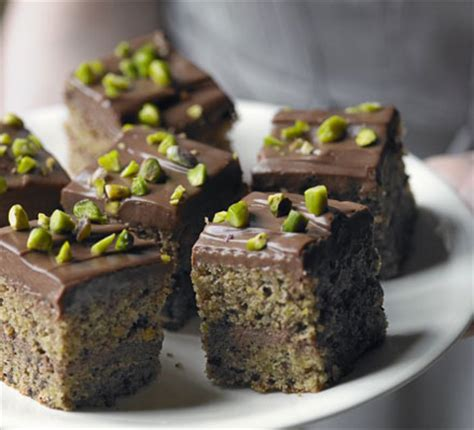 pistachio milk chocolate squares bbc good food