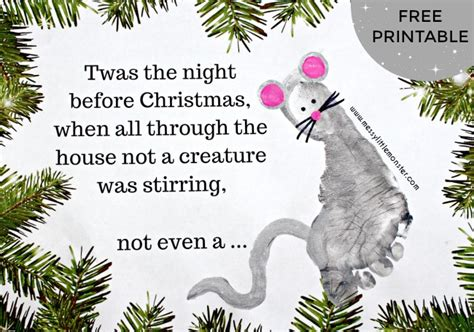 twas the night before christmas footprint craft messy