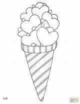 Ice Coloring Cream Drawing Printable Pop Cone Kleurplaten Sorvete Icecream Pintura Desenhos Riscos Flavor Cono Colorare Gelato Disegno Cupcake Colouring sketch template