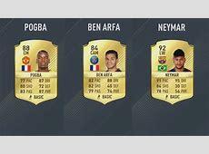 FIFA 17 5star card Goalcom