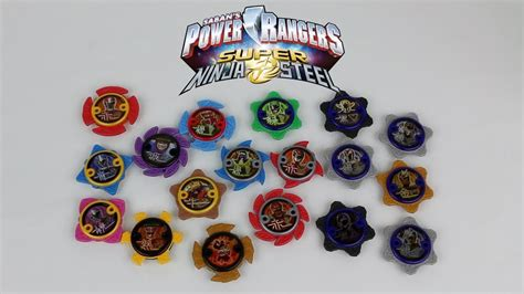 ninja power star packs wave  review power rangers super ninja steel youtube