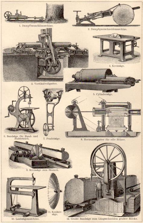 machinery antique print vintage lithograph