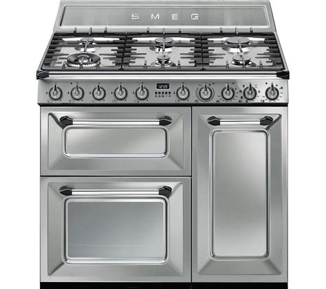 buy smeg tr93x 90 cm dual fuel range cooker stainless steel free delivery currys