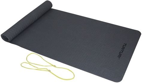 bolcom tunturi tpe yogamat fitnessmat mm dik geel
