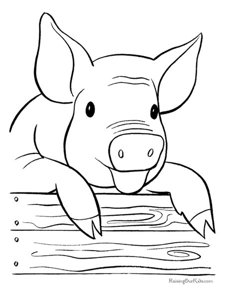 Farm pig coloring page Farm animal coloring pages