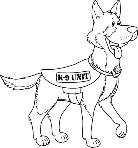 Police Officer 35 Jobs Printable Coloring Pages