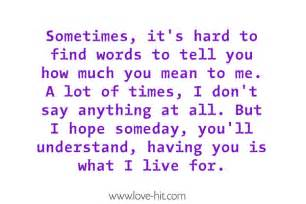 How Much You Mean to Say to Me Quotes