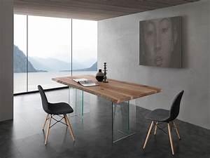 Holztisch Mit Glas : tisch mit glas beine platte aus massivem eschenholz idfdesign ~ Frokenaadalensverden.com Haus und Dekorationen